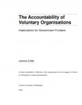 The Accountability of Voluntary Organisations : Implications for Government Funders